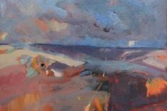 Artist Sarah Muir Poland, 'Daybreaks, Wells', Wells Beach, Norfolk, Oil, 27x35cm, £280. Paint Out Wells 2017 Commended