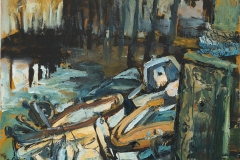 Artist Susan Isaac, 'Boats at Blakeney', Blakeney, Oil on canvas, 40x40cm, £575. Paint Out Wells 2017