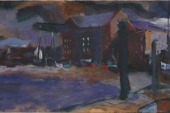 Artist Jack Godfrey, 'The Width of Wells', Wells, Norfolk, Oil, 20x60cm, £525. Paint Out Wells 2017 First Prize