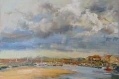 Artist Georgina Potter, 'Weather at East Quay', Wells-next-the-Sea, Oil, 30x40cm, £395. Paint Out Wells 2018